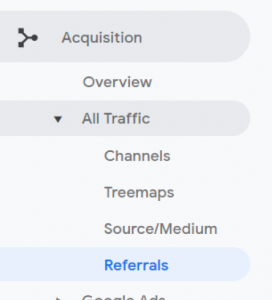 What is a Google Analytics referral