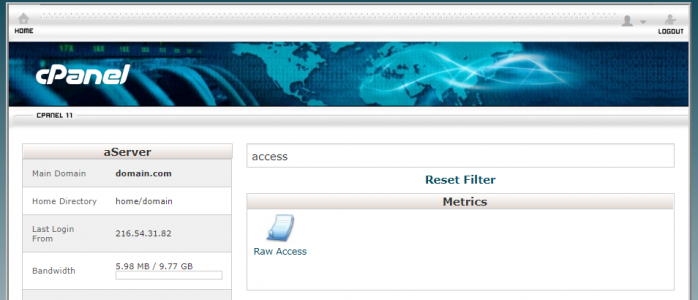 Access Logs are available from the cPanel home screen