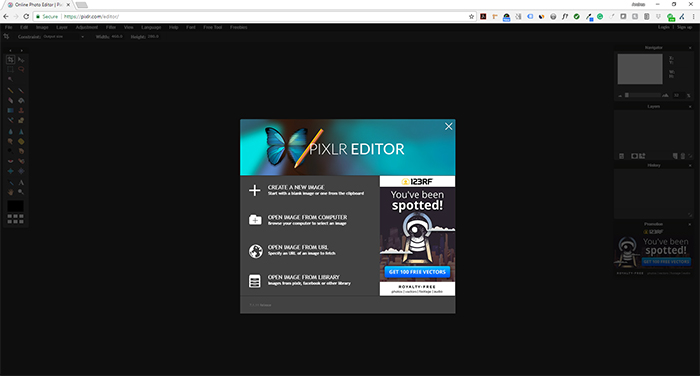 Pixlr Steps to Edit Image - Step 1