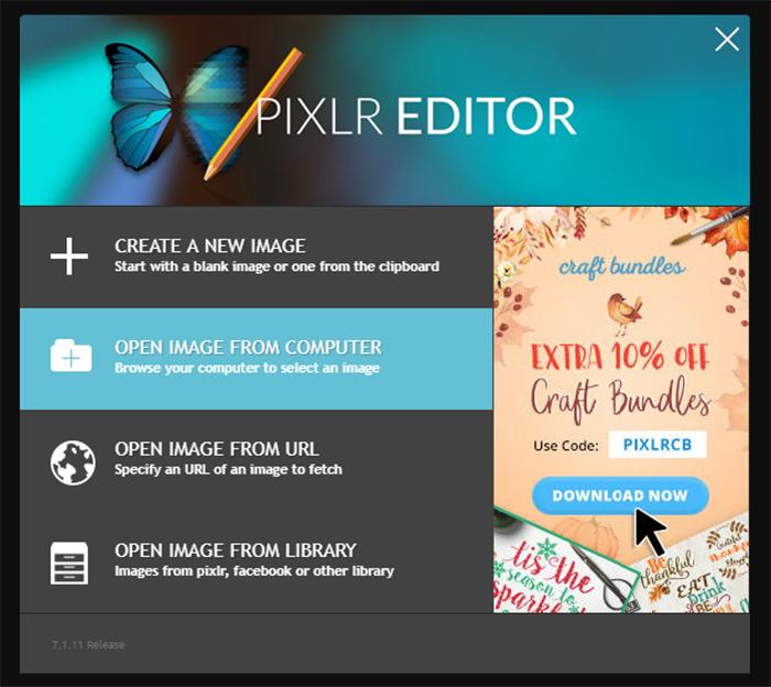 Pixlr Steps to Edit Image - Step 2