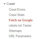 crawlability fetch as google in navigation