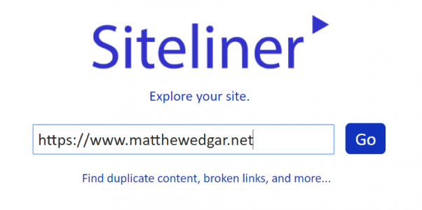Enter your URL into Siteliner and then click go.
