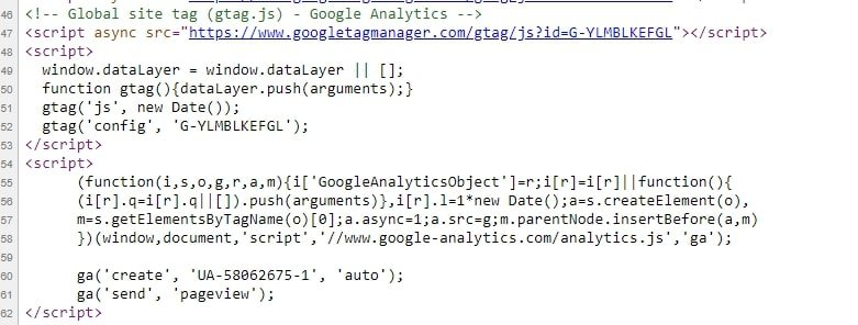 add ga4 tracking code alongside existing google analytics code